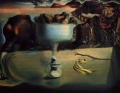 apparition of face and fruit dish on a beach, salvador dali, 1938