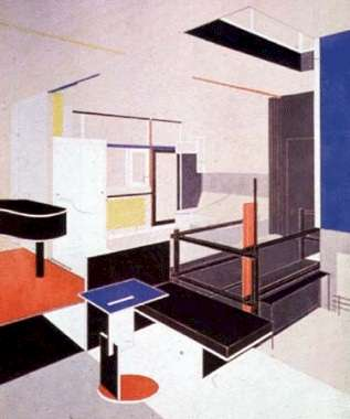 Schroeder house interior drawing for Interieur utrecht