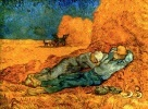 noon rest from work, van gogh, 1889-1890